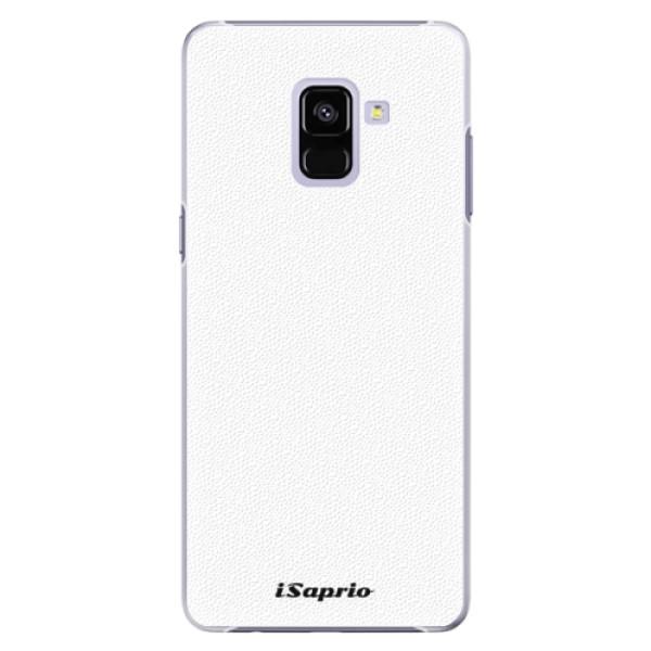 Plastové puzdro iSaprio - 4Pure - bílý - Samsung Galaxy A8+