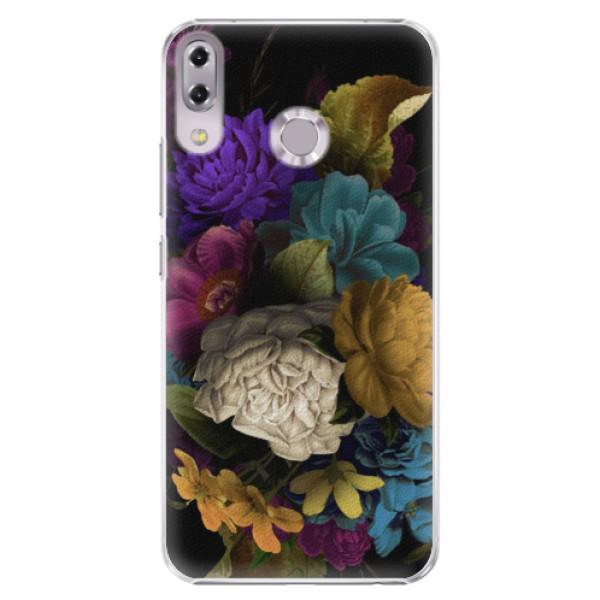 Plastové puzdro iSaprio - Dark Flowers - Asus ZenFone 5 ZE620KL