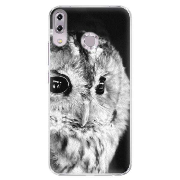 Plastové puzdro iSaprio - BW Owl - Asus ZenFone 5 ZE620KL
