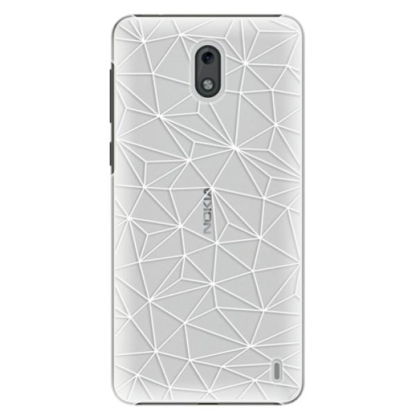 Plastové puzdro iSaprio - Abstract Triangles 03 - white - Nokia 2