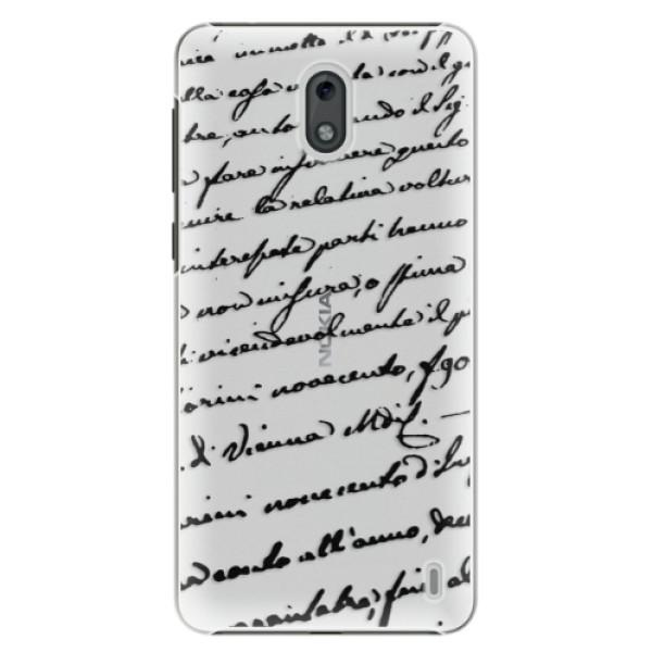 Plastové puzdro iSaprio - Handwriting 01 - black - Nokia 2