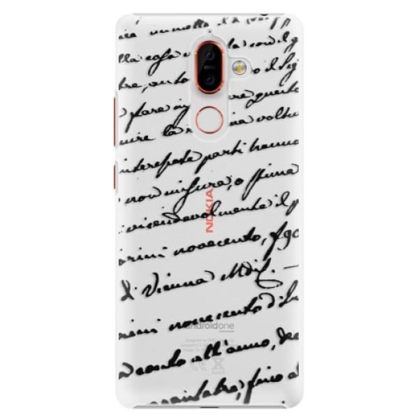 Plastové puzdro iSaprio - Handwriting 01 - black - Nokia 7 Plus