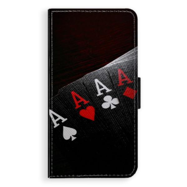 Flipové puzdro iSaprio - Poker - Samsung Galaxy S6 Edge