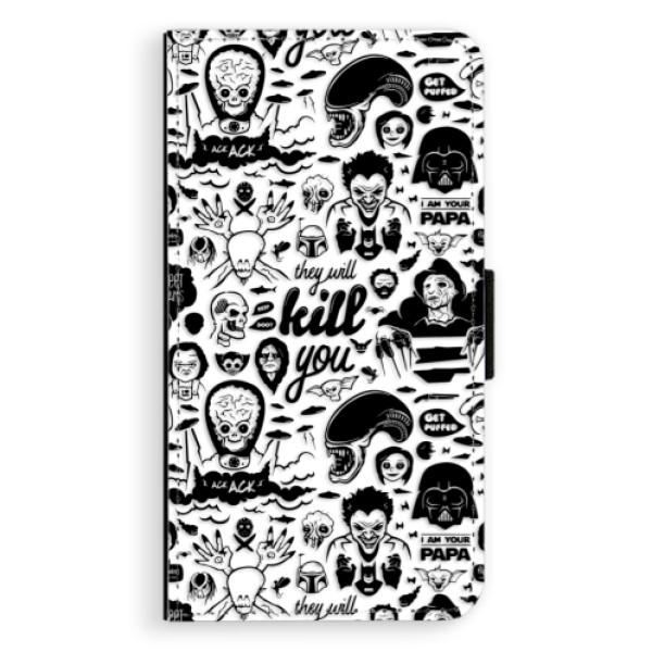 Flipové puzdro iSaprio - Comics 01 - black - Samsung Galaxy A3 2017