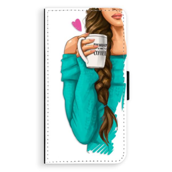 Flipové puzdro iSaprio - My Coffe and Brunette Girl - Samsung Galaxy A5
