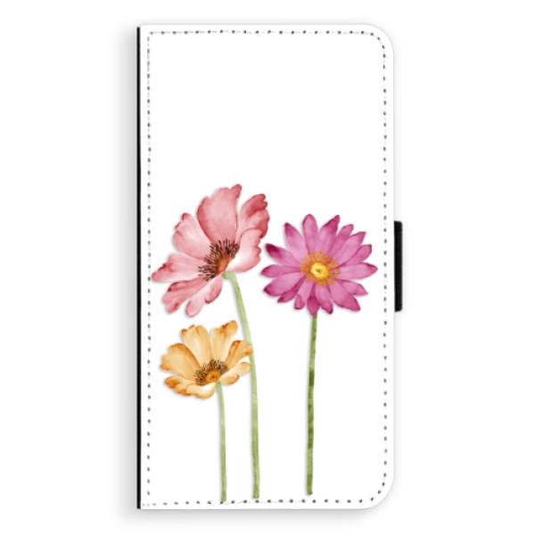 Flipové puzdro iSaprio - Three Flowers - Sony Xperia XZ