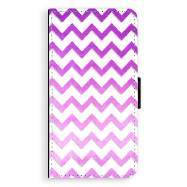 Flipové puzdro iSaprio - Zigzag - purple - Sony Xperia XZ