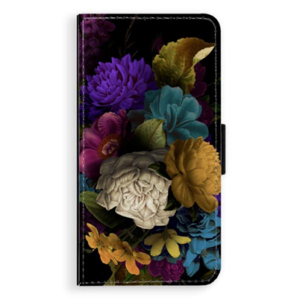 Flipové puzdro iSaprio - Dark Flowers - Sony Xperia XZ
