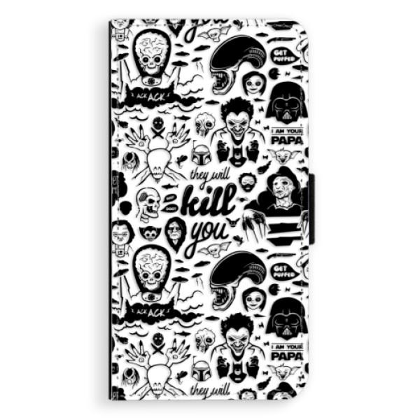 Flipové puzdro iSaprio - Comics 01 - black - Nokia 6
