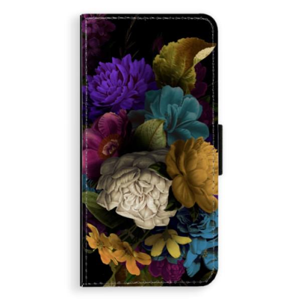 Flipové puzdro iSaprio - Dark Flowers - Huawei Ascend P8