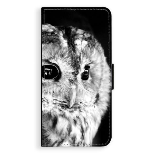 Flipové puzdro iSaprio - BW Owl - Huawei Ascend P8