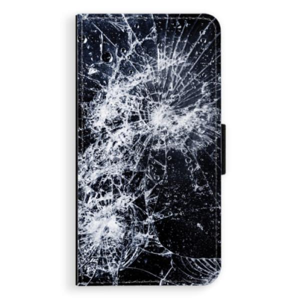 Flipové puzdro iSaprio - Cracked - Huawei P10 Plus