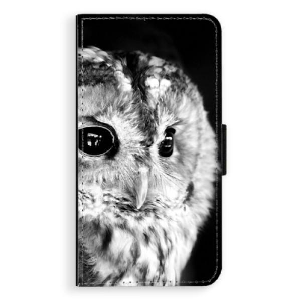 Flipové puzdro iSaprio - BW Owl - Huawei P10 Plus