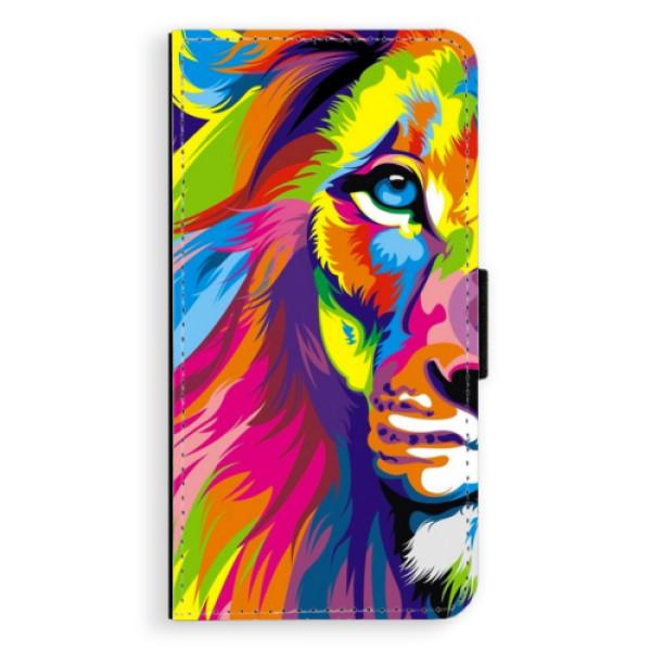 Flipové puzdro iSaprio - Rainbow Lion - iPhone 7 Plus