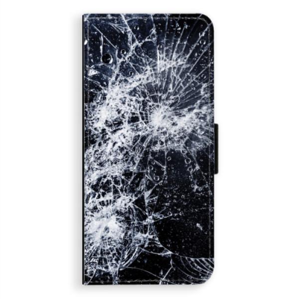 Flipové puzdro iSaprio - Cracked - Samsung Galaxy A8 Plus