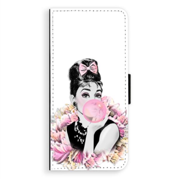 Flipové puzdro iSaprio - Pink Bubble - Samsung Galaxy A8 Plus
