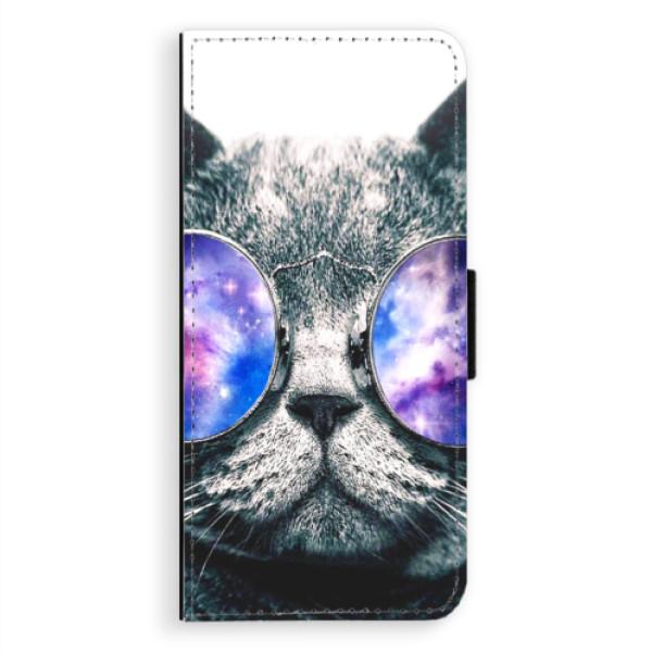 Flipové puzdro iSaprio - Galaxy Cat - Samsung Galaxy A8 Plus