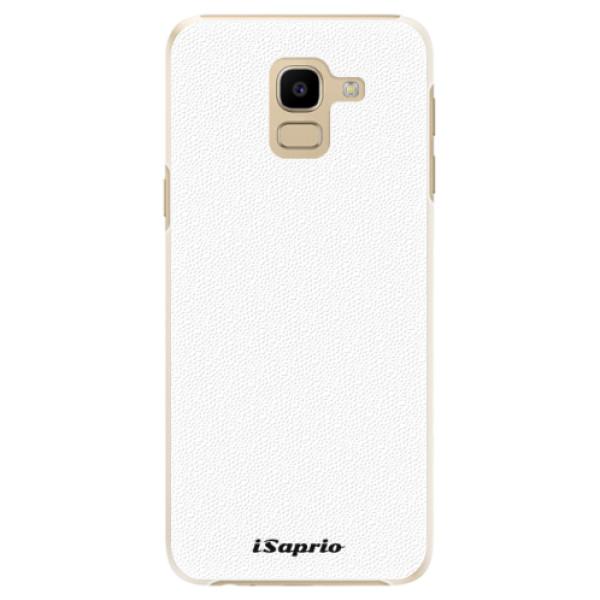 Plastové puzdro iSaprio - 4Pure - bílý - Samsung Galaxy J6