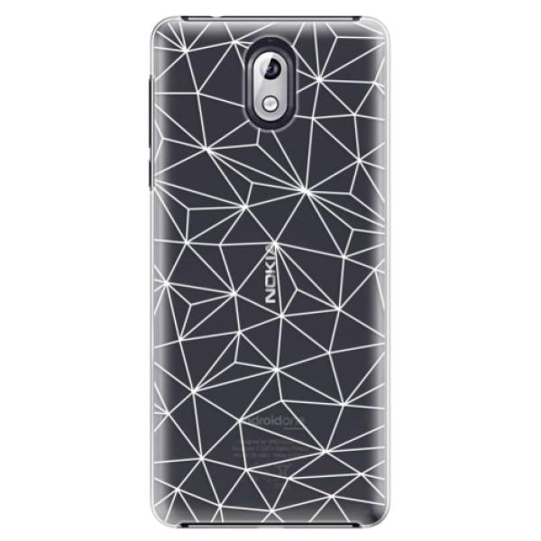 Plastové puzdro iSaprio - Abstract Triangles 03 - white - Nokia 3.1