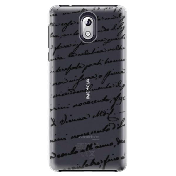 Plastové puzdro iSaprio - Handwriting 01 - black - Nokia 3.1