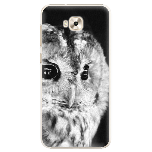 Plastové puzdro iSaprio - BW Owl - Asus ZenFone 4 Selfie ZD553KL