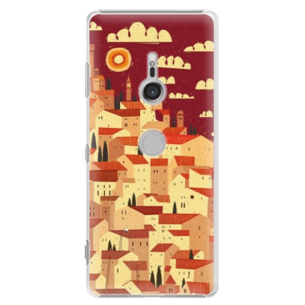 Plastové puzdro iSaprio - Mountain City - Sony Xperia XZ3