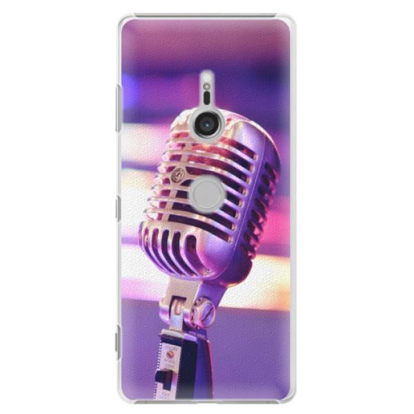 Plastové puzdro iSaprio - Vintage Microphone - Sony Xperia XZ3