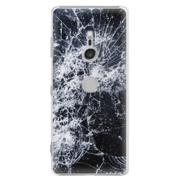 Plastové puzdro iSaprio - Cracked - Sony Xperia XZ3
