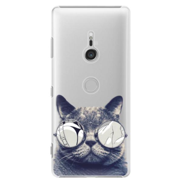 Plastové puzdro iSaprio - Crazy Cat 01 - Sony Xperia XZ3