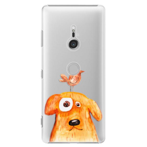Plastové puzdro iSaprio - Dog And Bird - Sony Xperia XZ3