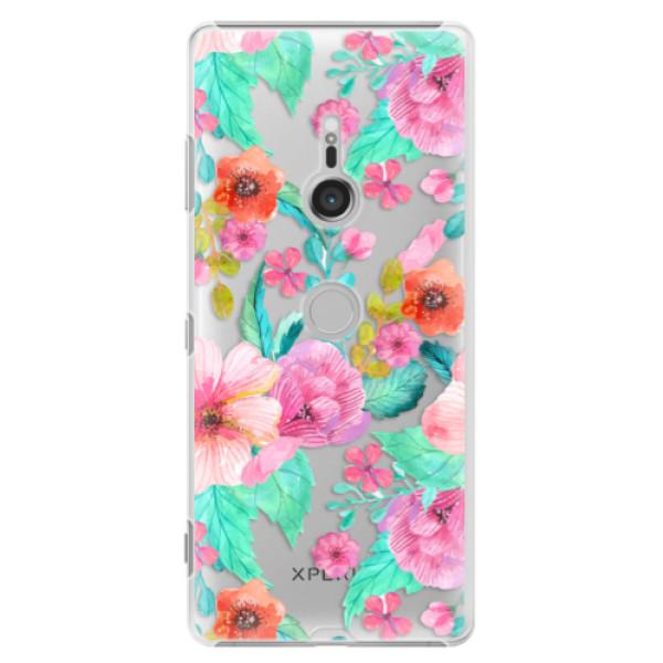 Plastové puzdro iSaprio - Flower Pattern 01 - Sony Xperia XZ3