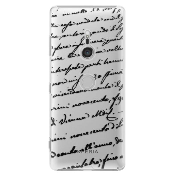 Plastové puzdro iSaprio - Handwriting 01 - black - Sony Xperia XZ3