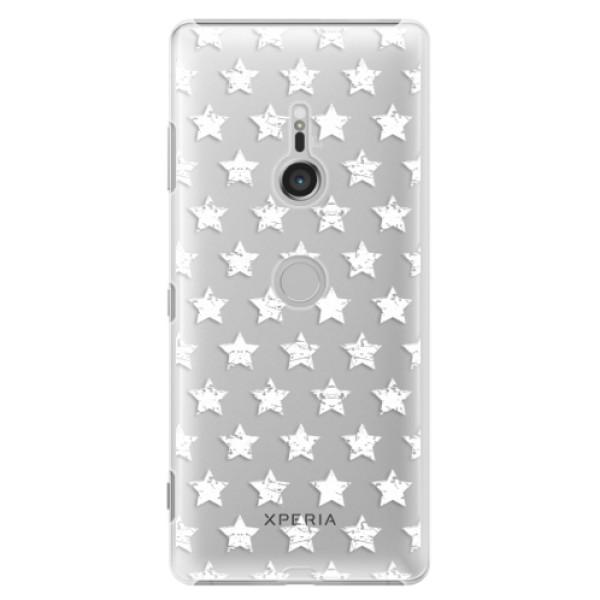 Plastové puzdro iSaprio - Stars Pattern - white - Sony Xperia XZ3