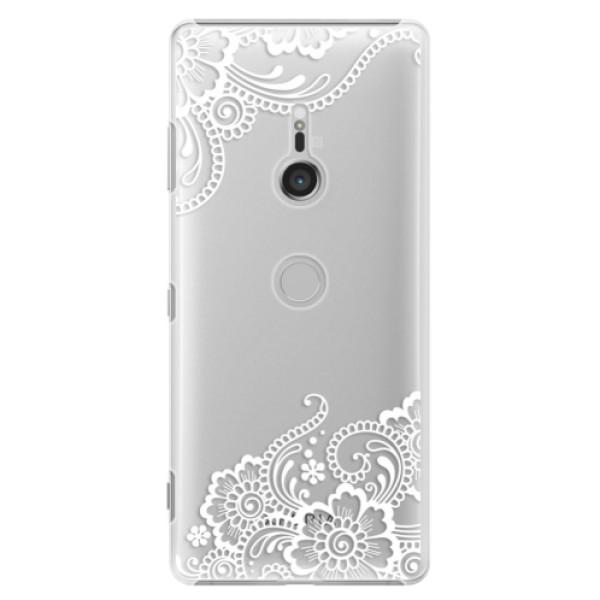 Plastové puzdro iSaprio - White Lace 02 - Sony Xperia XZ3