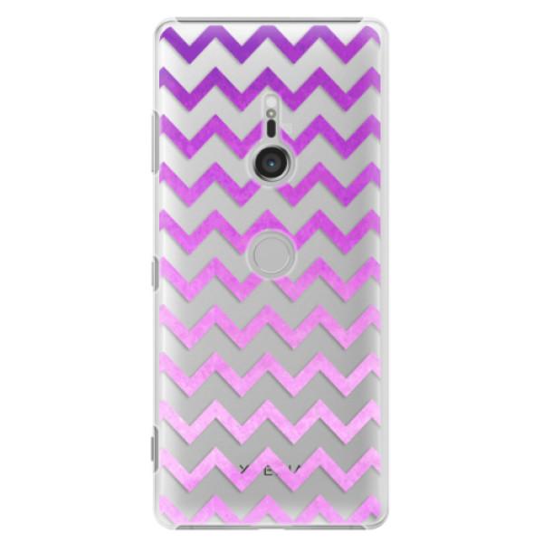 Plastové puzdro iSaprio - Zigzag - purple - Sony Xperia XZ3