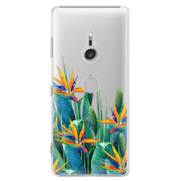 Plastové puzdro iSaprio - Exotic Flowers - Sony Xperia XZ3
