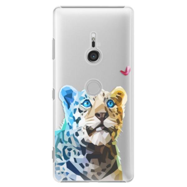 Plastové puzdro iSaprio - Leopard With Butterfly - Sony Xperia XZ3