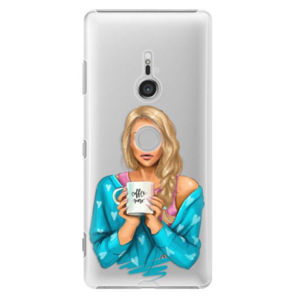 Plastové puzdro iSaprio - Coffe Now - Blond - Sony Xperia XZ3
