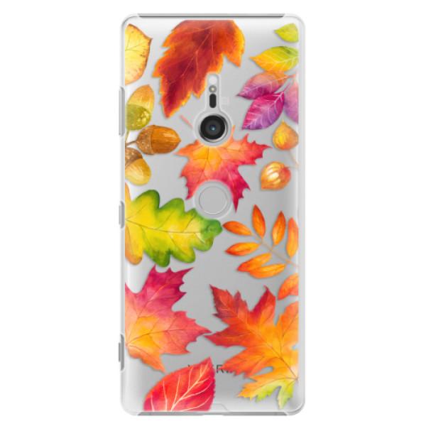 Plastové puzdro iSaprio - Autumn Leaves 01 - Sony Xperia XZ3