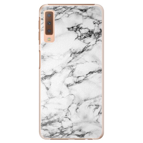 Plastové puzdro iSaprio - White Marble 01 - Samsung Galaxy A7 (2018)