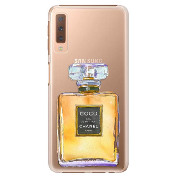 Plastové puzdro iSaprio - Chanel Gold - Samsung Galaxy A7 (2018)