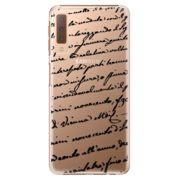 Plastové puzdro iSaprio - Handwriting 01 - black - Samsung Galaxy A7 (2018)