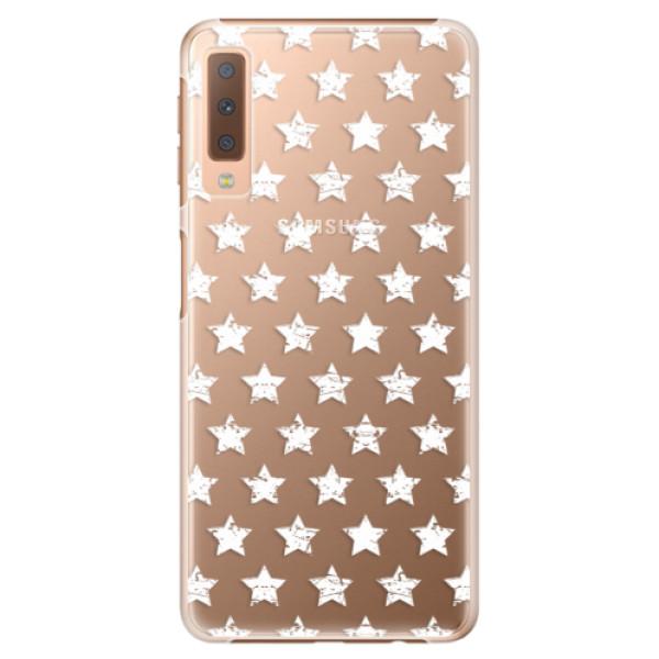 Plastové puzdro iSaprio - Stars Pattern - white - Samsung Galaxy A7 (2018)