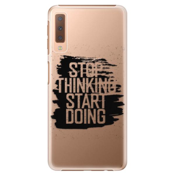 Plastové puzdro iSaprio - Start Doing - black - Samsung Galaxy A7 (2018)