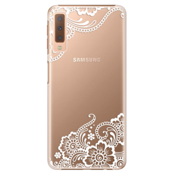 Plastové puzdro iSaprio - White Lace 02 - Samsung Galaxy A7 (2018)