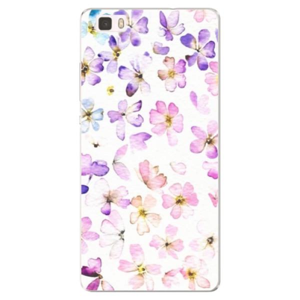 Silikónové puzdro iSaprio - Wildflowers - Huawei Ascend P8 Lite