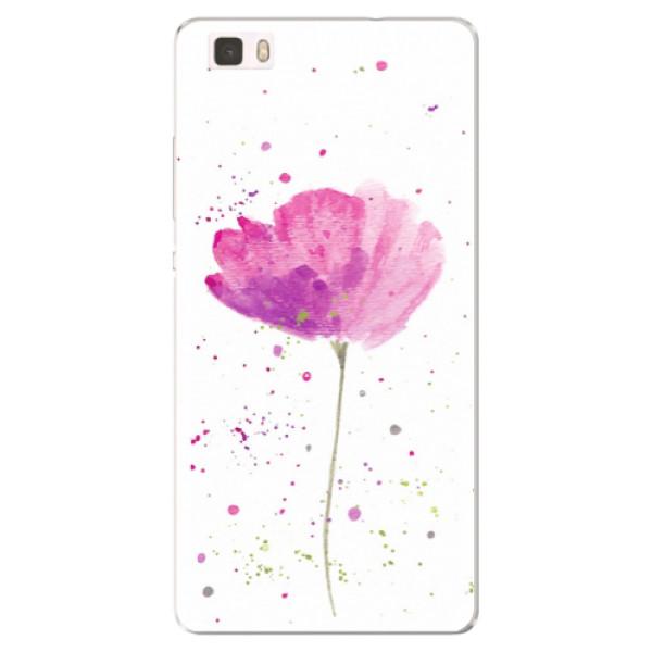 Silikónové puzdro iSaprio - Poppies - Huawei Ascend P8 Lite