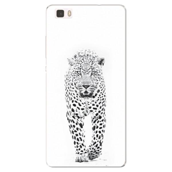 Silikónové puzdro iSaprio - White Jaguar - Huawei Ascend P8 Lite