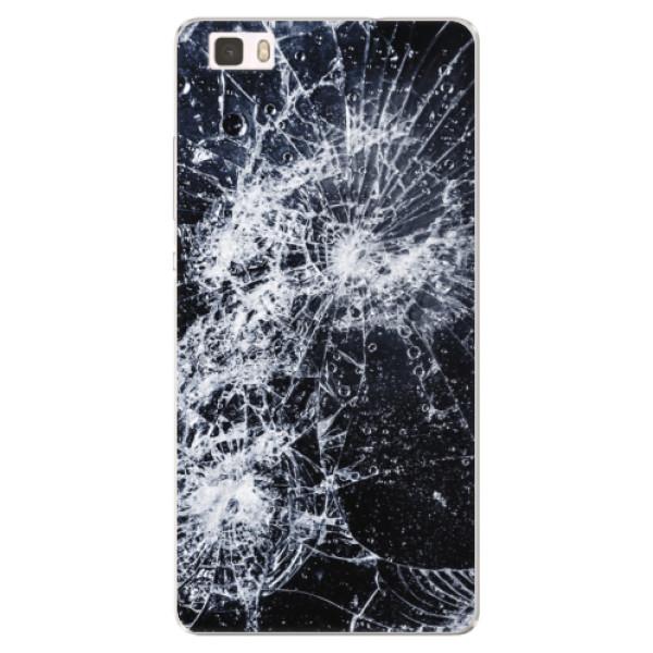 Silikónové puzdro iSaprio - Cracked - Huawei Ascend P8 Lite
