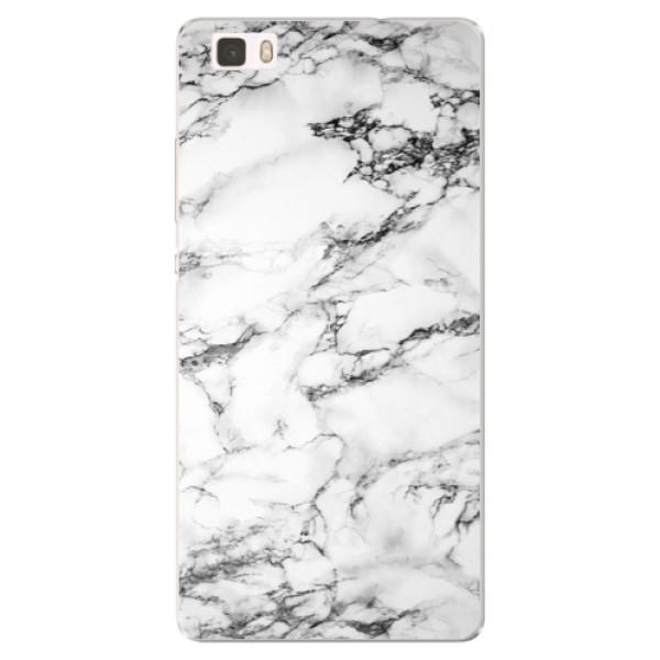 Silikónové puzdro iSaprio - White Marble 01 - Huawei Ascend P8 Lite